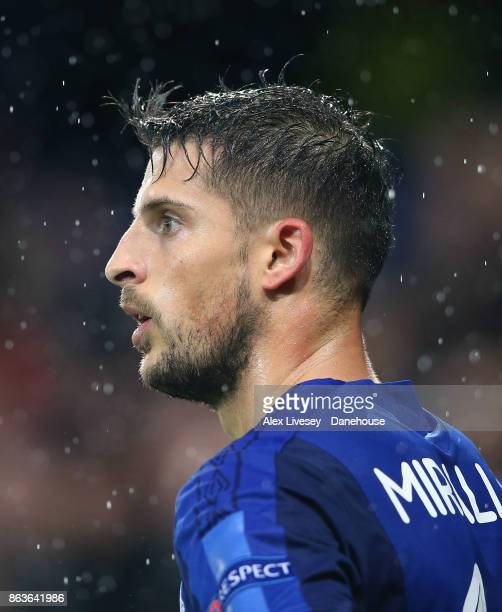 Kevin Mirallas of Everton FC looks on during the UEFA Europa League group E match between Everton FC and Olympique Lyon at Goodison Park on October...