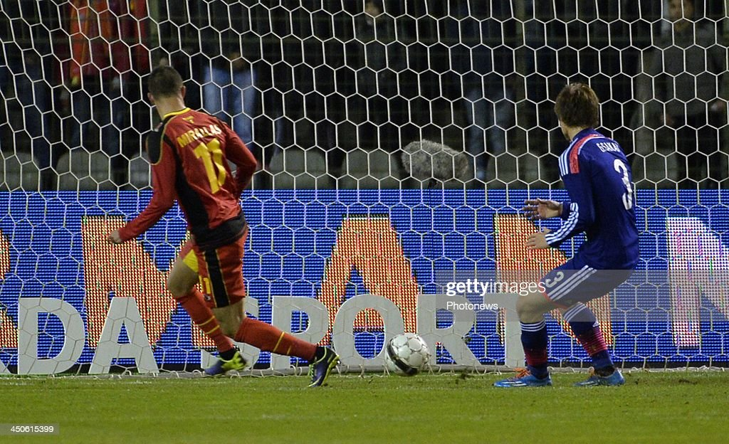 Kevin Mirallas of Everton FC pictured during the international friendly match before the World Cup in Brasil between Belgium and Japan on November 19, 2013 in Brussels, Belgium