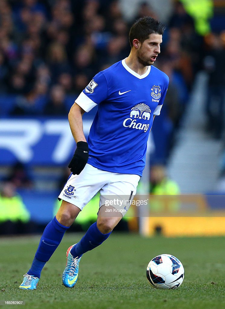 <a gi-track='captionPersonalityLinkClicked' href=/galleries/search?phrase=Kevin+Mirallas&family=editorial&specificpeople=745704 ng-click='$event.stopPropagation()'>Kevin Mirallas</a> of Everton in action during the Barclays Premier League match between Everton and Stoke City at Goodison Park on March 30, 2013 in Liverpool, England.