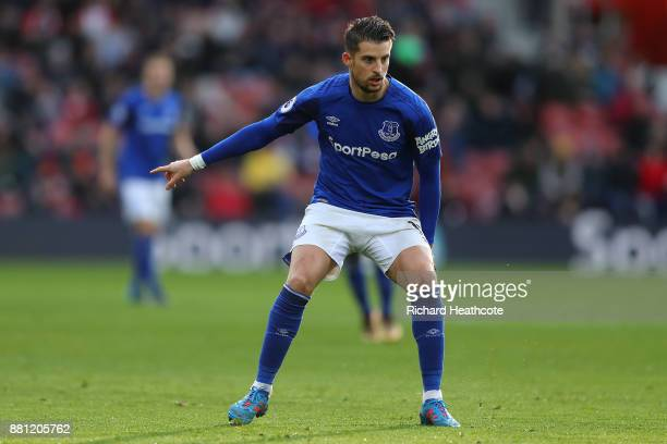 Kevin Mirallas of Everton in action during the Premier League match between Southampton and Everton at St Mary's Stadium on November 26 2017 in...