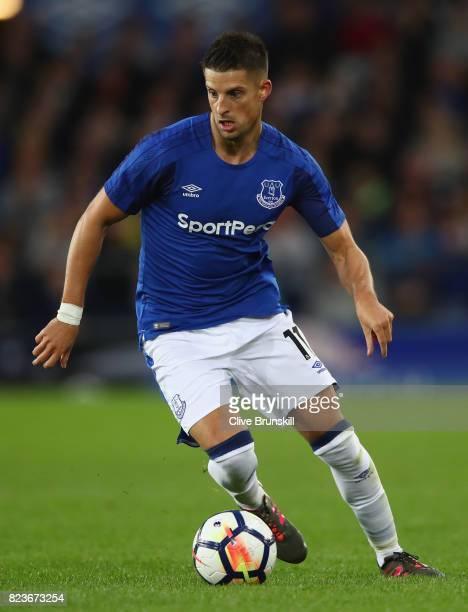 Kevin Mirallas of Everton in action during the UEFA Europa League Third Qualifying Round First Leg match between Everton and MFK Ruzomberok at...