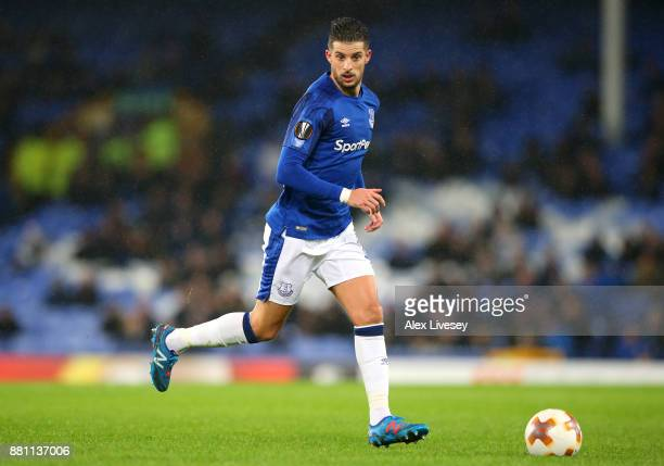 Kevin Mirallas of Everton runs with the ball during the UEFA Europa League group E match between Everton FC and Atalanta at Goodison Park on November...