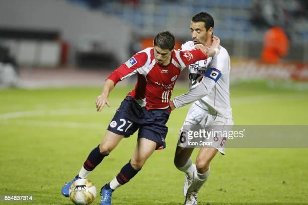 Kevin MIRALLAS / Olivier ECHOUAFNI Lille / Nice 14eme journee de Ligue 1