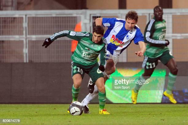 Kevin MIRALLAS / Sandy PAILLOT Grenoble / Saint Etienne 20e journee Ligue 1 Stade des Alpes