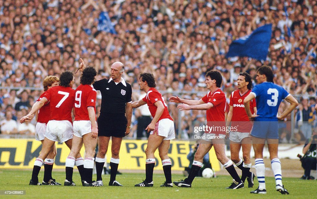 first player sent off in fa cup final