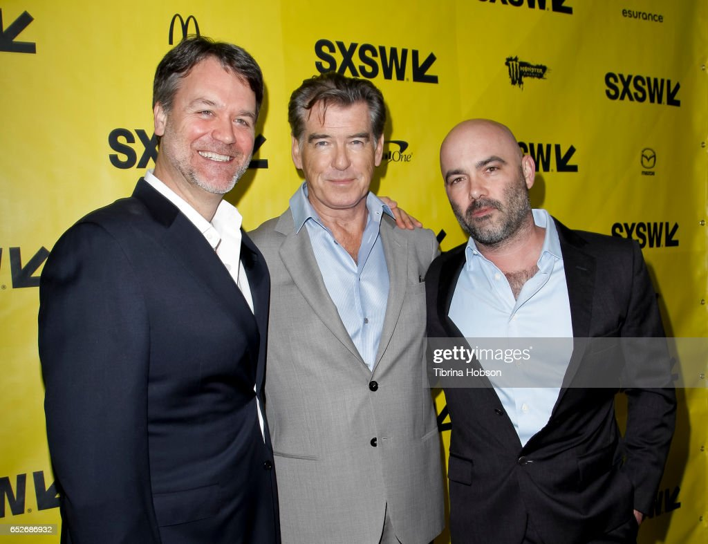 Kevin Murphy, Pierce Brosnan and Philipp Meyer attend AMC's 'The Son' premiere and panel with Pierce Brosnan, Philipp Meyer, Kevin Murphy on March 12, 2017 in Austin, Texas.