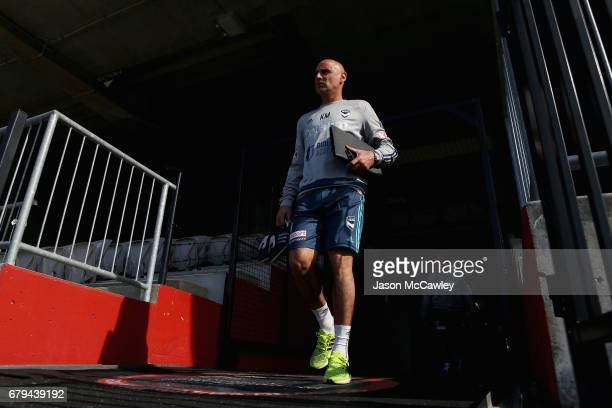 Kevin Muscat head coach of the Victory during a Melbourne Victory ALeague training session at WIN Jubilee Stadium on May 6 2017 in Sydney Australia