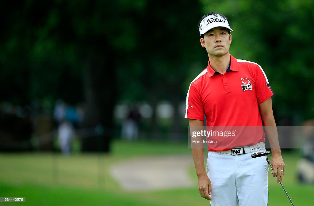 <a gi-track='captionPersonalityLinkClicked' href=/galleries/search?phrase=Kevin+Na&family=editorial&specificpeople=235605 ng-click='$event.stopPropagation()'>Kevin Na</a> looks on from the 18th green during the First Round of the DEAN & DELUCA Invitational at Colonial Country Club on May 26, 2016 in Fort Worth, Texas.