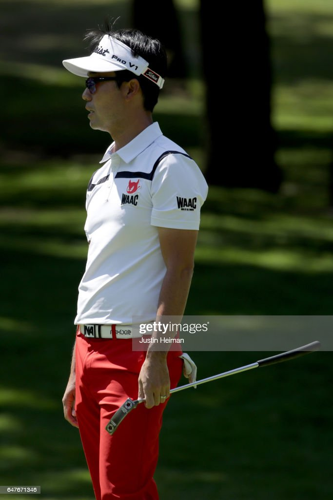 Kevin Na of the United States looks on from the first hole during the second round of the World Golf Championships Mexico Championship at Club De Golf Chapultepec on March 3, 2017 in Mexico City, Mexico.