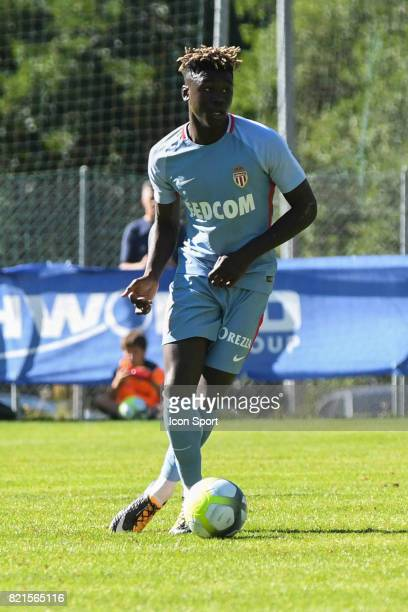 Kevin Ndoram during the friendly match between As Monaco and PSV Eindhoven on July 16 2017 in Le Chable Switzerland
