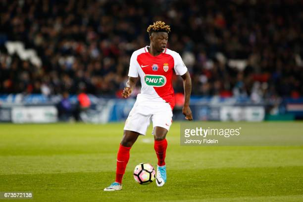 Kevin N'Doram of Monaco during the Semi final of the French Cup match between Paris SaintGermain and As Monaco at Parc des Princes on April 26 2017...