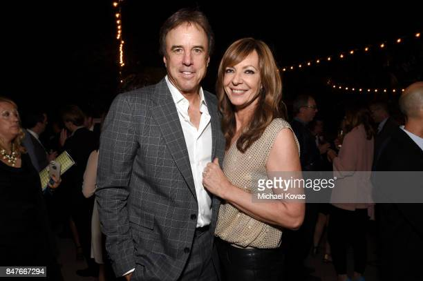Kevin Nealon and Allison Janney attend the 2017 Gersh Emmy Party presented by Tequila Don Julio 1942 on September 15 2017 in Los Angeles California