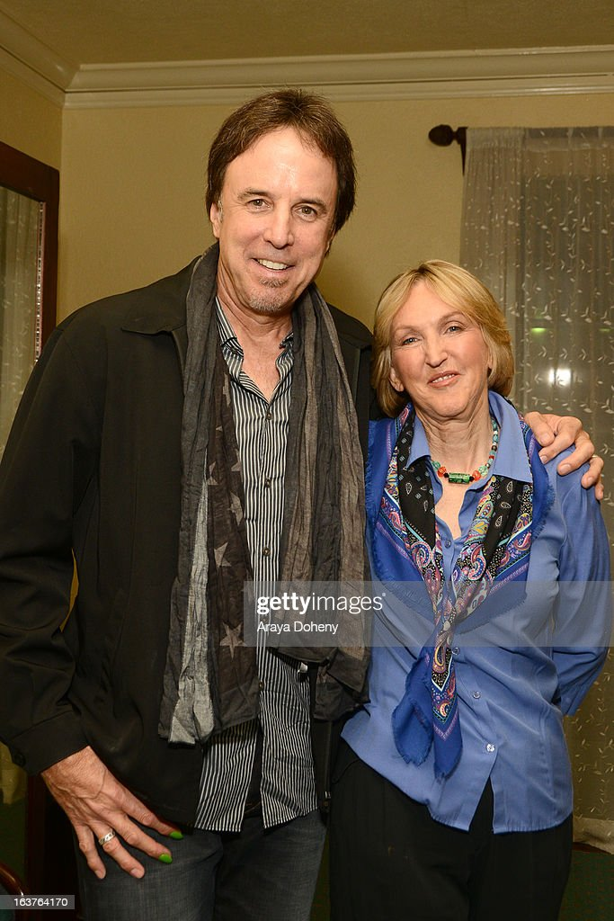 Kevin Nealon and Ingrid E. Newkirkt attend the PETA President Ingrid E. Newkirkt launches 'Naked Truth' U.S. tour at the Ebell of Los Angeles event at The Wilshire Ebell Theatre on March 14, 2013 in Los Angeles, California.