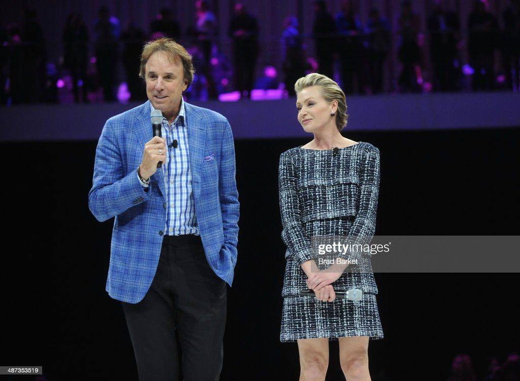 <a gi-track='captionPersonalityLinkClicked' href=/galleries/search?phrase=Kevin+Nealon&family=editorial&specificpeople=214104 ng-click='$event.stopPropagation()'>Kevin Nealon</a> and <a gi-track='captionPersonalityLinkClicked' href=/galleries/search?phrase=Portia+de+Rossi&family=editorial&specificpeople=204197 ng-click='$event.stopPropagation()'>Portia de Rossi</a> speak onstage at the 2014 AOL NewFronts at Duggal Greenhouse on April 29, 2014 in New York, New York.