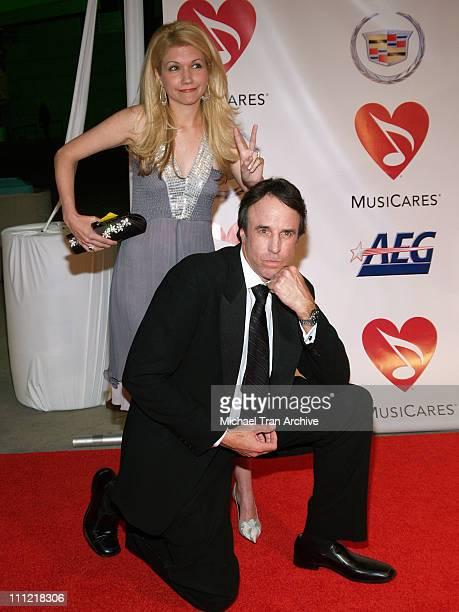 Kevin Nealon and Susan Yeagley during 2006 MusiCares Person of the Year Tribute to James Taylor at Los Angeles Convention Center in Los Angeles...