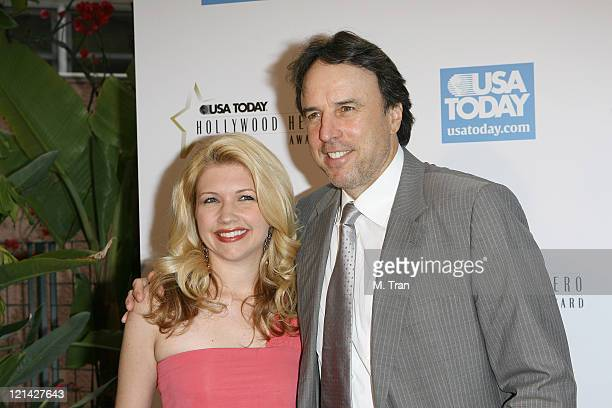 Kevin Nealon and Susan Yeagley during 2nd Annual USA Today Hollywood Hero Award Arrivals at Beverly Hills Hotel in Beverly Hills California United...