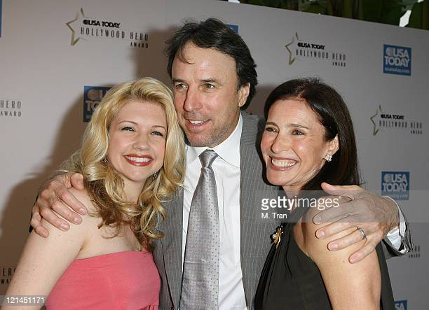 Kevin Nealon Susan Yeagley and Mimi Rogers during 2nd Annual USA Today Hollywood Hero Award Arrivals at Beverly Hills Hotel in Beverly Hills...