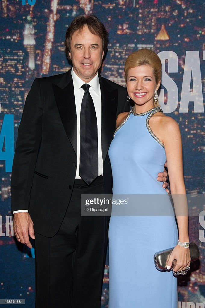 Kevin Nealon (L) Susan Yeagley attend the SNL 40th Anniversary Celebration at Rockefeller Plaza on February 15, 2015 in New York City.