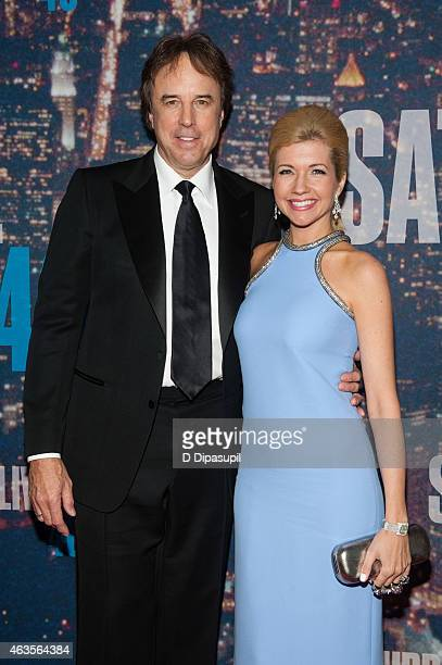 Kevin Nealon Susan Yeagley attend the SNL 40th Anniversary Celebration at Rockefeller Plaza on February 15 2015 in New York City