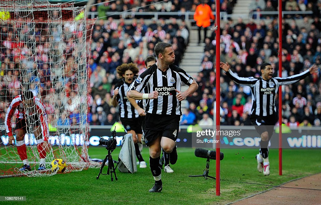 <a gi-track='captionPersonalityLinkClicked' href=/galleries/search?phrase=Kevin+Nolan&family=editorial&specificpeople=206775 ng-click='$event.stopPropagation()'>Kevin Nolan</a> celebrates the first Newcastle goal during the Barclays Premier League match between Sunderland and Newcastle United at Stadium of Light on January 16, 2011 in Sunderland, England.