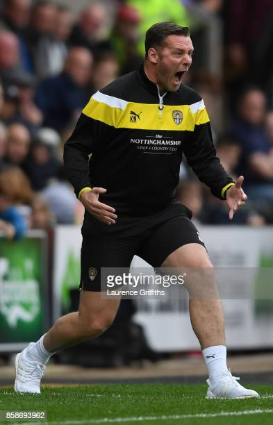 Kevin Nolan of Notts County screams at his players during the Sky Bet League Two match between Notts County and Forest Green Rovers at Meadow Lane on...