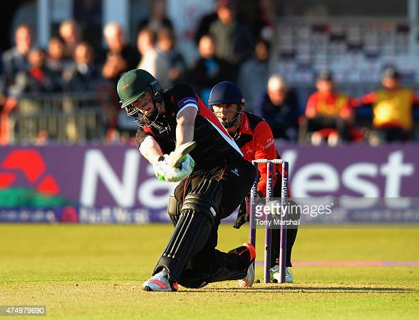 Kevin O'Brien of Leicestershire Foxes bats during the NatWest T20 Blast match between Leicestershire Foxes and Durham Jets at Grace Road on May 28...