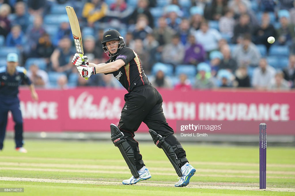 <a gi-track='captionPersonalityLinkClicked' href=/galleries/search?phrase=Kevin+O%27Brien+-+Cricketer&family=editorial&specificpeople=7528469 ng-click='$event.stopPropagation()'>Kevin O'Brien</a> of Leicestershire Foxes bats during the NatWest T20 Blast match between Yorkshire and Leicestershire at Headingley on May 27, 2016 in Leeds, England.