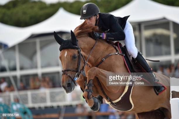 Kevin of France riding Ayade de Septon et HDC during the riding competition PRIX JULIUS BEAR in the Beach of Pampelonne on June 2 2017 in Saint...
