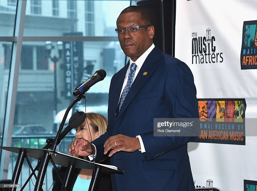 Kevin P. Lavender NMAAM Board/Fifth Third Bank attends NMAAM National Chairs And Fundraising Progress Press Conference at Nashville Vistor Center on May 2, 2016 in Nashville, Tennessee.