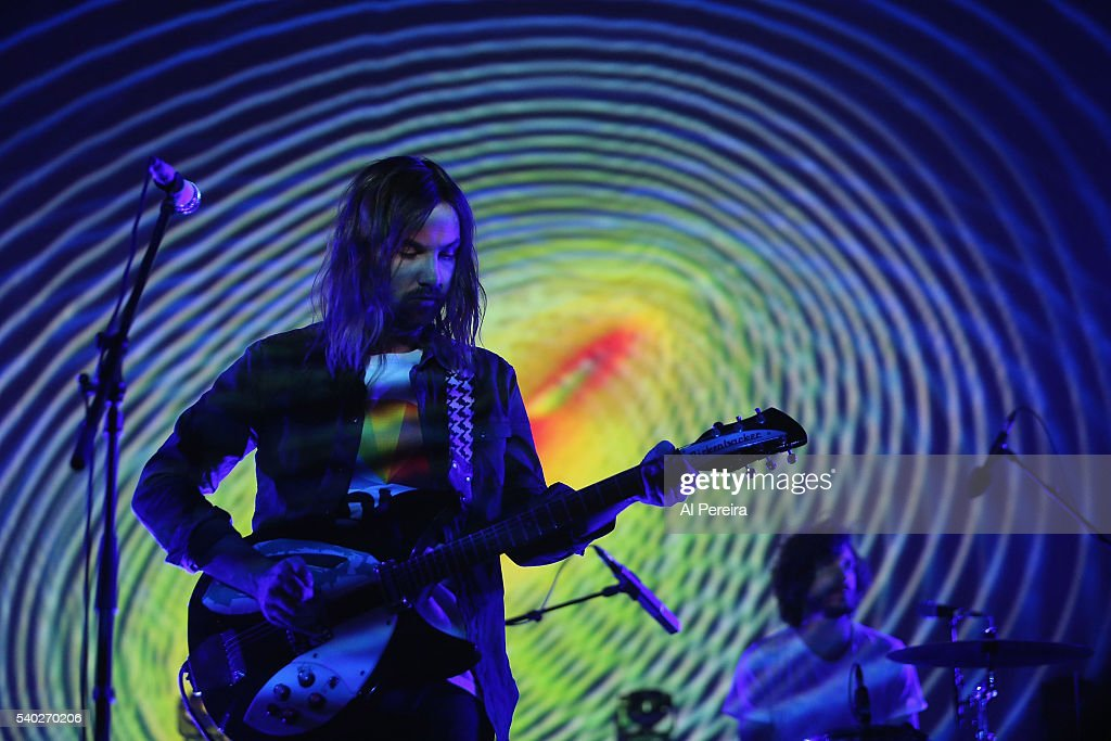 Kevin Parker and Tame Impala perform a benefit concert for Celebrate Brooklyn at Prospect Park Bandshell on June 14 2016 in New York City