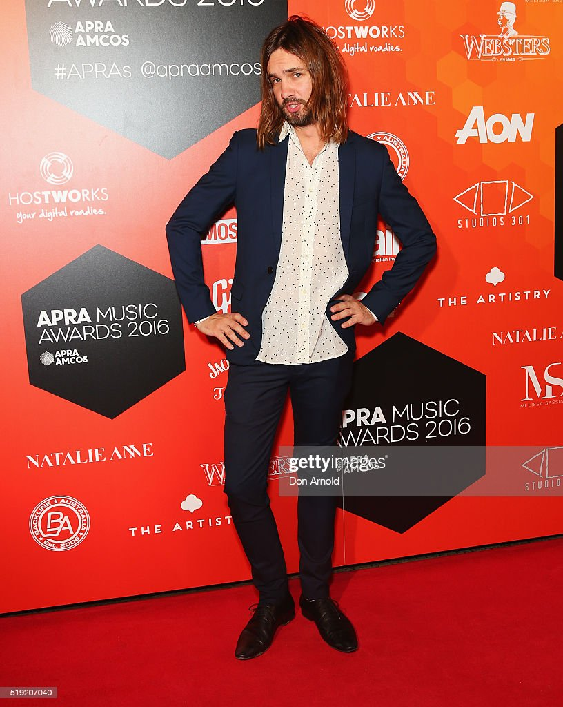 Kevin Parker of Tame Impala attends the 2016 APRA Music Awards at Carriageworks on April 5 2016 in Sydney Australia