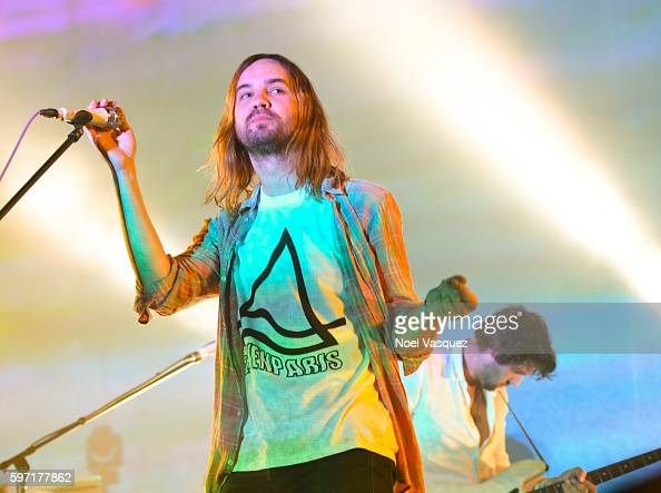 Kevin Parker of Tame Impala performs at FYF Fest 2016 Day 1 at the Los Angeles Sports Arena on August 27 2016 in Los Angeles California