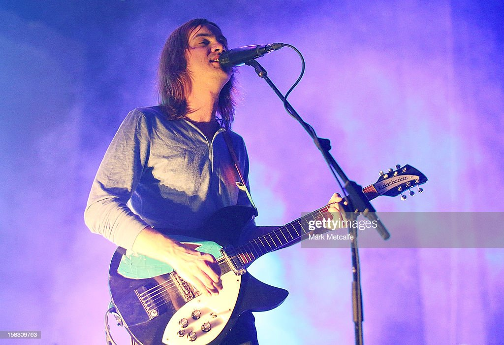 Kevin Parker of Tame Impala performs for fans at Enmore Theatre on December 13 2012 in Sydney Australia