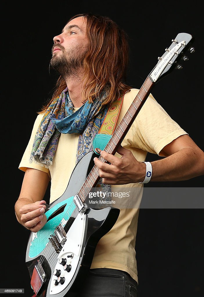 Kevin Parker of Tame Impala performs live for fans at the 2014 Big Day Out Festival on January 26 2014 in Sydney Australia