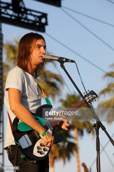 Kevin Parker of Tame Impala performs on stage at 2013 Coachella Music Festival on April 21 2013 in Indio California