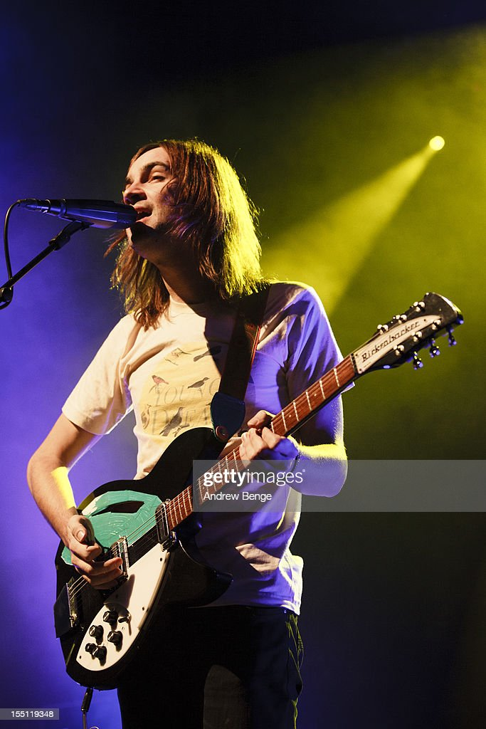 Kevin Parker of Tame Impala performs on stage at HMV Ritz on November 1 2012 in Manchester United Kingdom