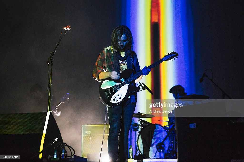 <a gi-track='captionPersonalityLinkClicked' href=/galleries/search?phrase=Kevin+Parker+-+Musician&family=editorial&specificpeople=9910529 ng-click='$event.stopPropagation()'>Kevin Parker</a> of Tame Impala performs on stage at Manchester Arena on February 11, 2016 in Manchester, England.