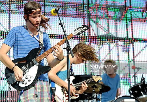 Kevin Parker of Tame Impala performs on stage at the Pyramid Rock Festival on 31st December 2009 in Phillip Island Australia