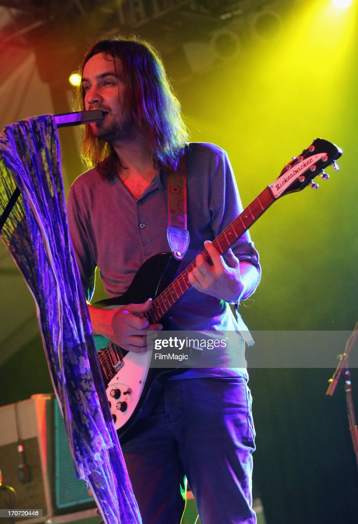 Kevin Parker of Tame Impala performs onstage at The Other Tent during day 4 of the 2013 Bonnaroo Music & Arts Festival on June 16, 2013 in Manchester, Tennessee.