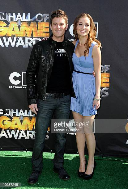 Kevin Pereira and actress Candace Bailey arrive at Cartoon Network Hall of Game Awards held at The Barker Hanger on Febuary 21 2011 in Santa Monica...