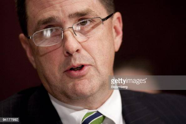 Kevin Perkins assistant Federal Bureau of Investigation director listens during a Senate Judiciary Committee hearing on mortgage and securities fraud...