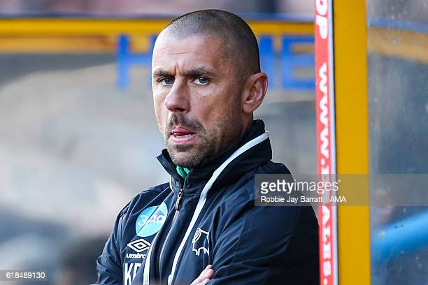 Kevin Phillips assistant head coach / manager of Derby County during the Sky Bet Championship match between Huddersfield Town and Derby County at...