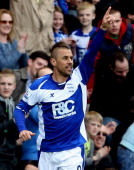 Kevin Phillips of Birmingham celebrates after scoring their first goal during the Barclays Premier League match between Birmingham City and Bolton...