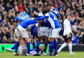 Kevin Phillips of Birmingham City celebrates after scoring their second goal during the FA Cup sponsored by EOn Sixth Round match between Birmingham...