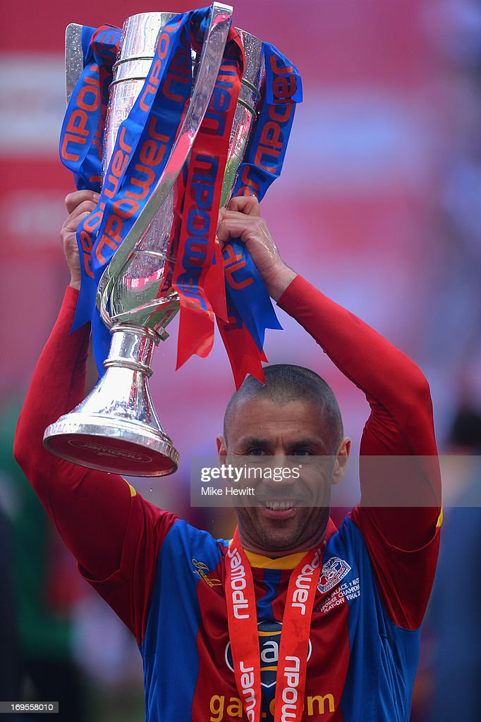 Kevin Phillips of Crystal Palace celebrates with the trophy following his team's victory in extra-time during the npower Championship Play-off Final match between Watford and Crystal Palace at Wembley Stadium on May 27, 2013 in London, England.