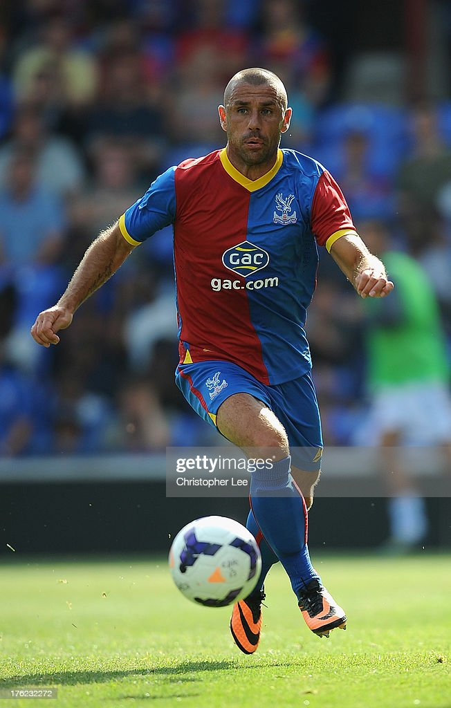 <a gi-track='captionPersonalityLinkClicked' href=/galleries/search?phrase=Kevin+Phillips+-+Soccer+Player&family=editorial&specificpeople=12779747 ng-click='$event.stopPropagation()'>Kevin Phillips</a> of Crystal Palace during a Pre Season Friendly between Crystal Palace and Lazio at Selhurst Park on August 10, 2013 in London, England.