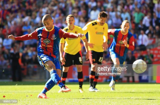 Kevin Phillips of Crystal Palace scores their first goal from the penalty spot during the npower Championship Playoff Final match between Watford and...