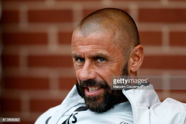Kevin Phillips of Derby County looks on during the preseason friendly between Kidderminster Harriers and Derby County at Aggborough Stadium on July...