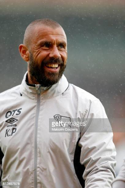 Kevin Phillips of Derby County reacts during the preseason friendly between Kidderminster Harriers and Derby County at Aggborough Stadium on July 11...