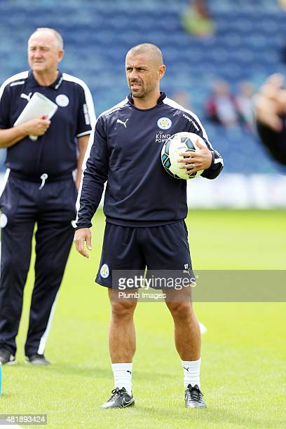 Kevin Phillips of Leicester City ahead of the preseason friendly between Mansfield Town and Leicester City at the One Call Stadium on July 25 2015 in...